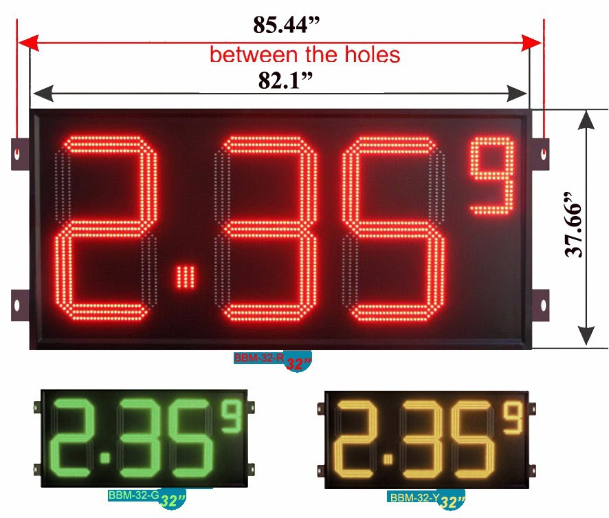 Flexible led Gas Price Display