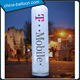 Customized inflatable decorative lighting pillar / led column for events