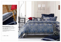 Luxury cotton satin and various designs of jacquard bedding sets