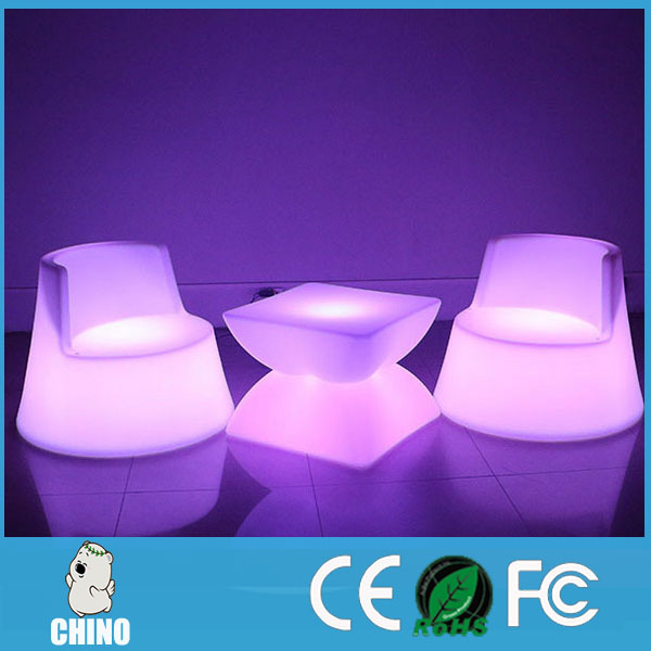 Romantic Lighting led chair used hotel outdoor furniture