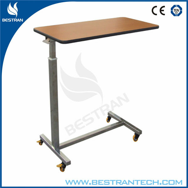 BT-AT005 Stainless steel hospital over bed tray table