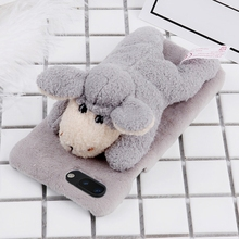 cell phone accessories mobile 4G case phone cover Lovely Sheep Doll Toy for iphone 8 X