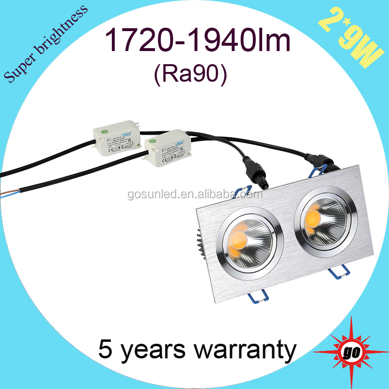 CE ROHS approved 2*9w led celling light( lamp) for indoor use lighting