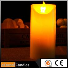 best value 5x5 pillar candle moving wick flameless led candle remote