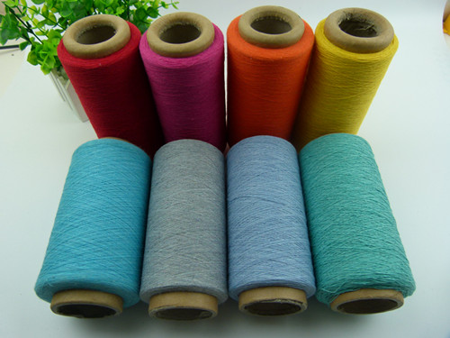 manufacture wenzhou factory  recycled dyed cotton yarn for knitting and weaving