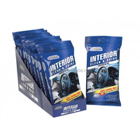pre-moistened auto wet wipes for interior clean and shine