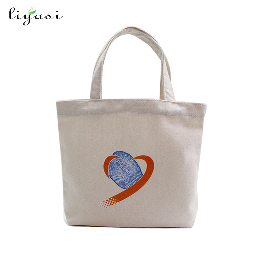 shenzhen factory custom blank canvas shopping tote bag