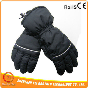 3.7V- 7.4V Rechargeable Li-on Battery Operated Electric Heated Gloves For SKI
