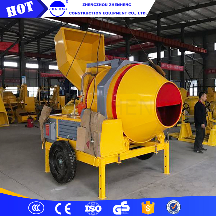 China Good Quality JZR350 350L Small Mini Portable Mobile Diesel Engine Concrete Mixer