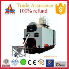 CE ISO BV certificate factory price low pressure chain grate water-fire tube biomass pellet wood fired steam generator