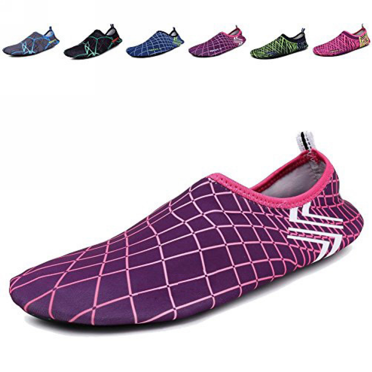 Hottest waterproof safety women water sport shoes with fabric upper and rubber outsole for beach exercise