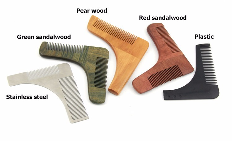 Natural smell OEM green sandalwood double side hair beard comb