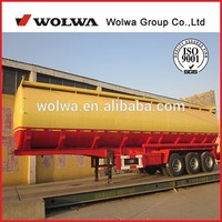40 -60m3 Fuel/Edible Oil Tanker Truck Semi Trailer with materialof Q235 carbon steel, stainless steel, or aluminum