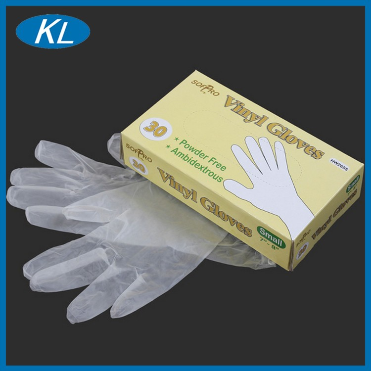 Health disposable clear ce iso approved machine health pvc gloves