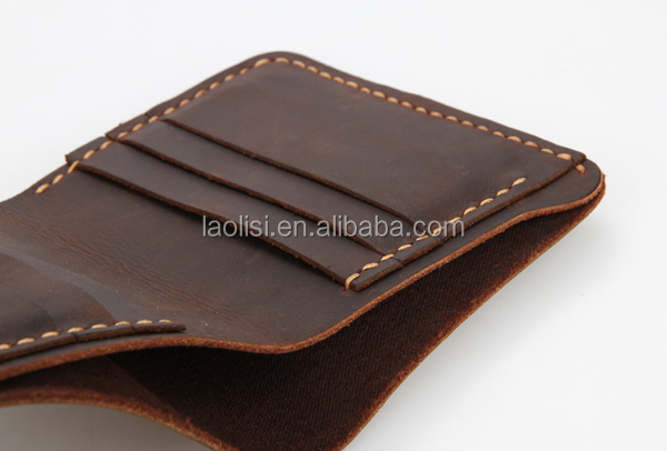 Man leather wallet foe men made by crazy horse leather