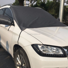 Car front windshield cover for cars, SUVs, trucks against rain, snow, dust, sunshine with mirror cover