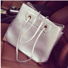 2014 the most popular handbag pu leather silvery bulk beach bag ,handbag factories in china