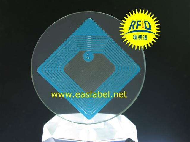 8.2MHz RF EAS label,printing eas rf label,rf sticker label polyester sticker label