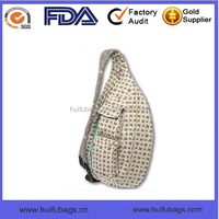 Top Selling printed rope handle sling backpack for ladies Oem waterproof rope handle sling backpack in China