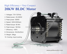 High Efficiency brushless electric car motor 20KW electric car kit