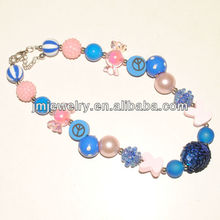 wholesale fashion chunky statement necklace for little girl