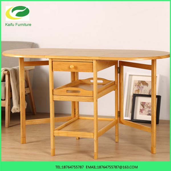 2016 Hot Sale Living Room Furniture Folding Dining Table Can Move Receive And Scalable Table