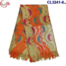"African embroidery fancy design ""dance"" lace fabric for women plain clothes high grade heavy guipure lace dress fabric"
