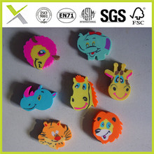 School stationery colorful animal shape eraser for children