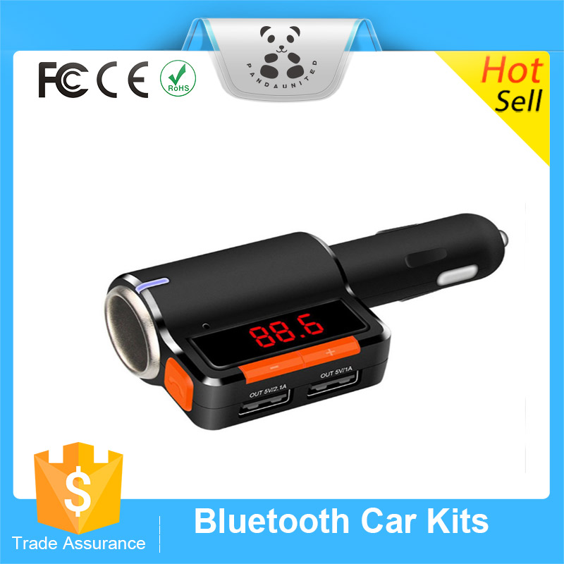 Bluetooth Car kit 3.1A Dual USB car charger Handfree device MP3 Player for smart phone FM Transmittes