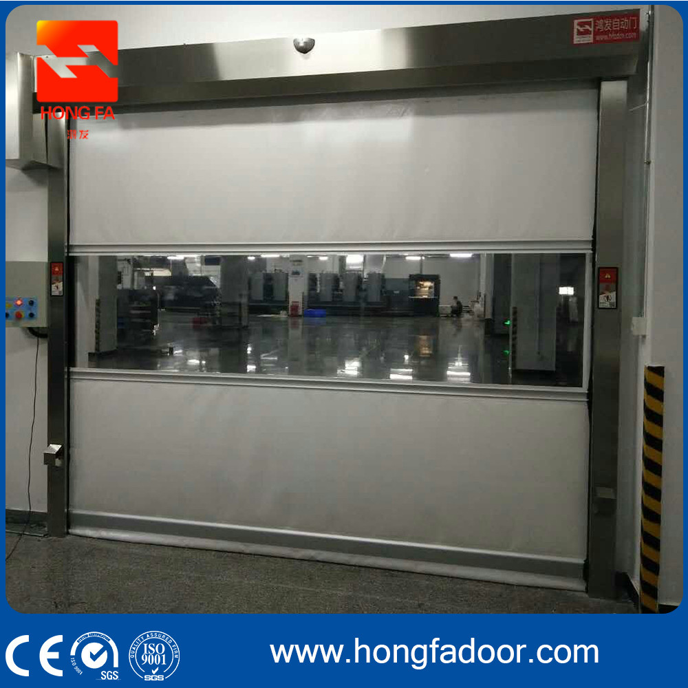 PVC Curtain Fabric High Speed Automatic Roll up Door