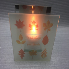 2016 wholesale frosted mirror votive candle holders for thanksgiving decorations