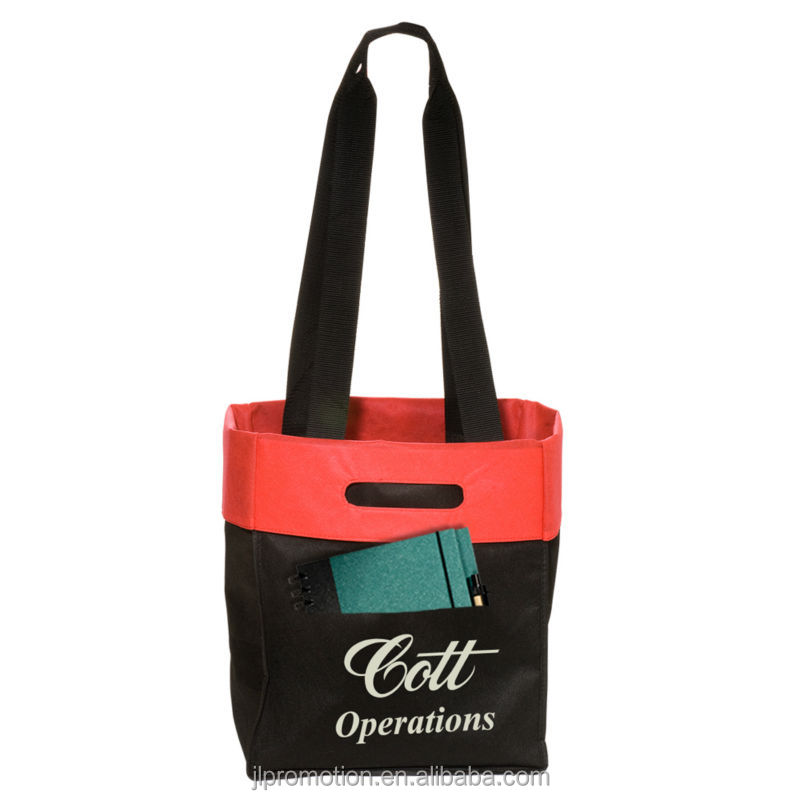 Folden Tote Shopper Bag with Dual handles carry using either strap handles or fold out to use slot handles