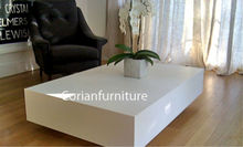 New design acrylic solid surface built home use coffee table/tea table