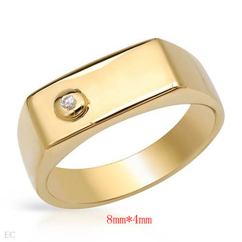 New Latest Simple Stainless Steel Men's Gold Finger Ring Designs for Men ZZR102