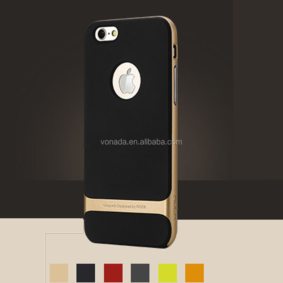 Rock Shockproof Environmental Protection TPU PC Back Case Cover For iPhone 6 4.7
