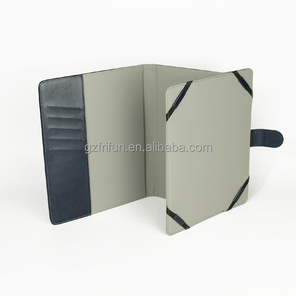 wholesale beautiful europe market classic 4 folder pu case for ipad,promotion universal 9-10 inch fashion tablet cover