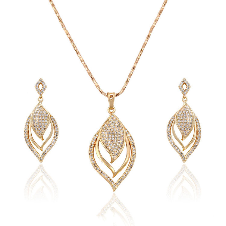 63558- Xuping Ladies fashion gold jewelry <strong>set</strong> hot