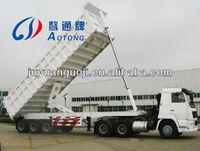 China hot sale 2 or 3 axles tipper/dump truck semi trailer for sale (hydraulic cylinder for discharge)