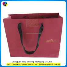 Customized printed medium size patented paper gift bag
