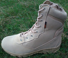 desert color leather good quality tactical boots