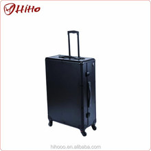 Private Label Train Rolling Studio Makeup Case With Lights Mirror