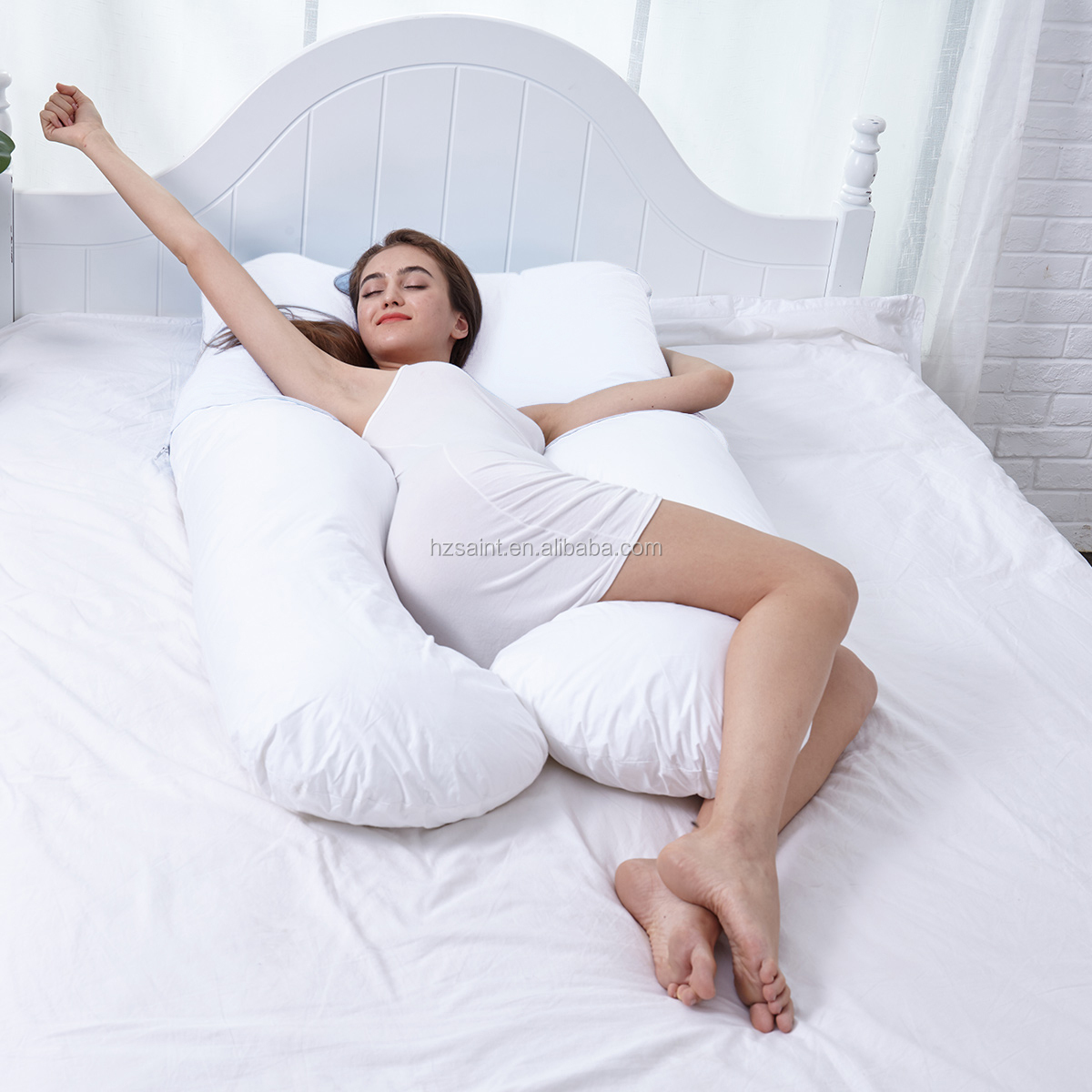 Saint Glory Wholesale U Shape Pregnant Maternity Full Body Pregnancy Women Pillow with Removable Zippered Cover
