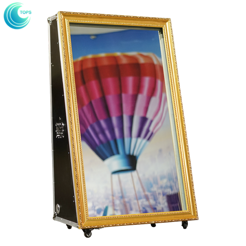 65 inch customized high definition instant digital Diy mirror me photo booth kiosk prices for sale