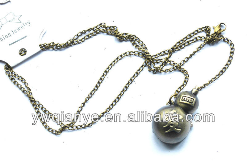 calabash pocket watch necklace