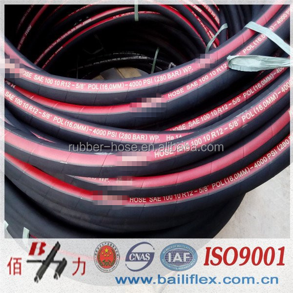 hydraulic hose SAE 100 R1 R2 R3 R4 R5 R6 R7 R8 R9 R12 4SP 4SH <strong>R13</strong>