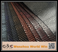 High gloss Embossed 100% pu synthetic croco leather
