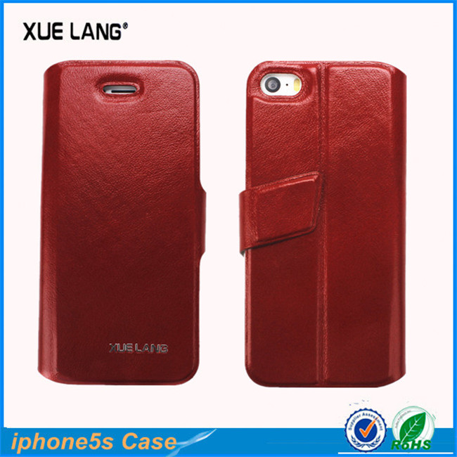 Guangzhou Factory for iphone 5 case customized genuine leather case