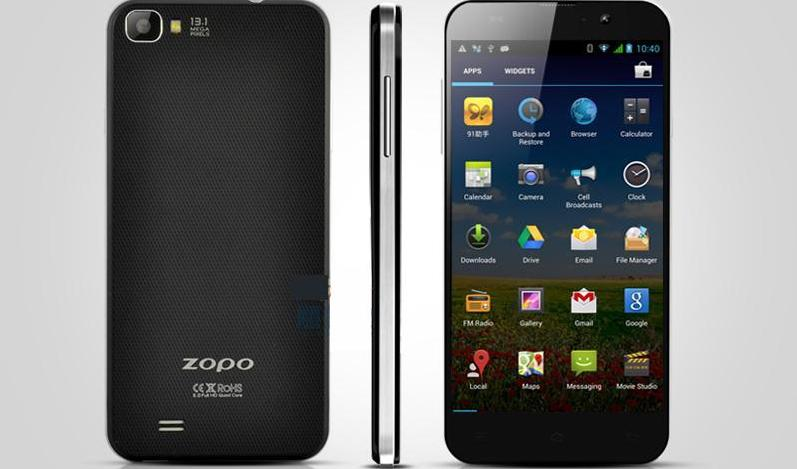 3.0Mp Camera!! Quad Core ZP980 MTK6589 Custom Android Mobile Phone 4.2 5.0'' 1920*1080 Resolution