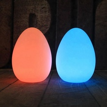 Child room light multi color egg table led lamp
