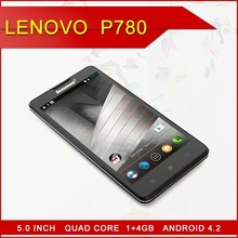 "Original Lenovo P780 Cell Phones Android MTK6589 Quad Core 5"" 1280x720 Gorilla Glass Screen 1GB RAM 8.0MP 4000mAh Battery"